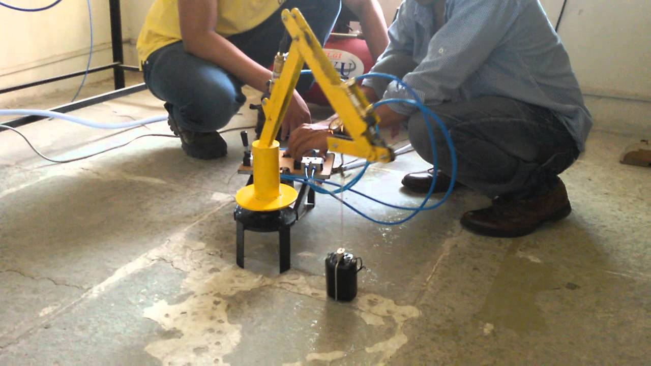 Pneumatic Robotic Arm College Project Youtube