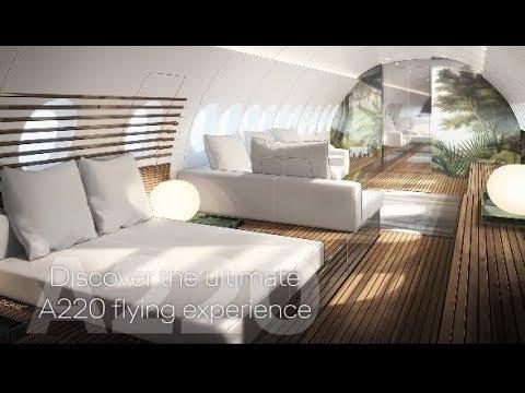A220 SkyRetreatAirbus A220 VIP aircraft cabin concept SkyRetreat by Lufthansa Technik