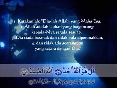 Surat Al Ikhlas Terjemah Indonesia