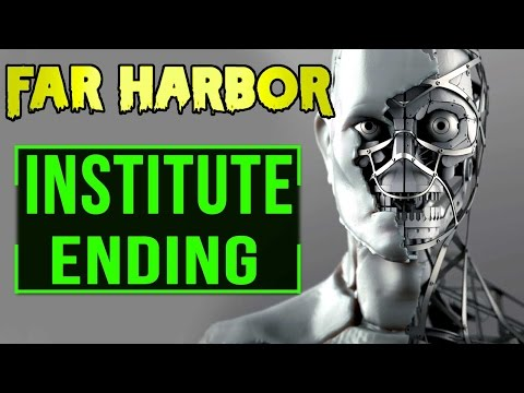 Fallout 4 Far Harbor: Ending - Institute Reclaims Synths of Acadia (Full Walkthrough Lore)
