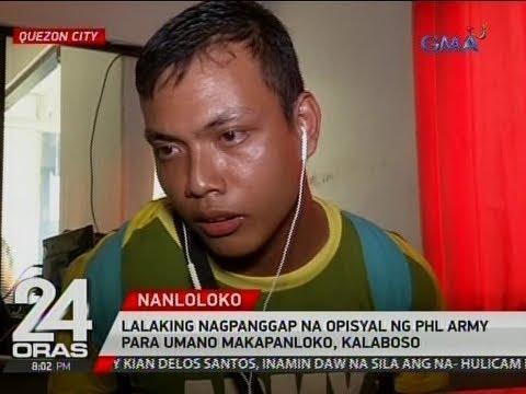24 Oras: Lalaking nagpanggap na opisyal ng Phl Army para umano makapanloko, kalaboso