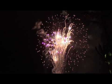 New Year's Fireworks Over Downtown West Palm Beach Waterfront - Jan. 1, 2017