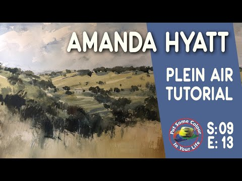 Fine art tips with watercolours with Amanda Hyatt on Colour In Your Life