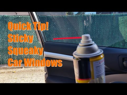 Quick Tip Sticky Squeaky Windows