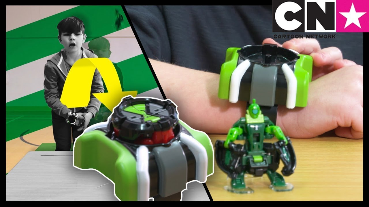 Ben Transforms Into Aliens Using Omni-Launch Battle Toys - YouTube