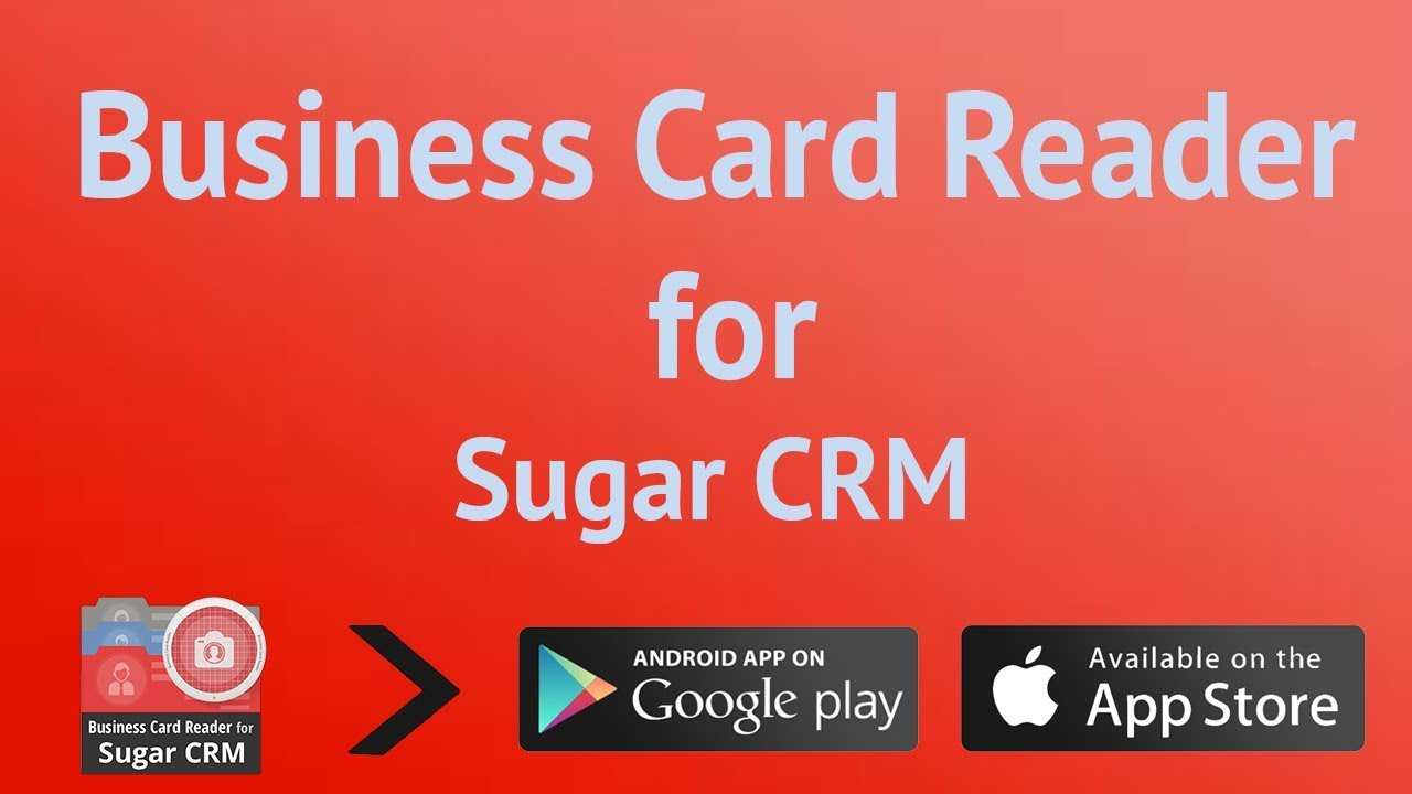 Business Card Reader for Sugar CRM - YouTube