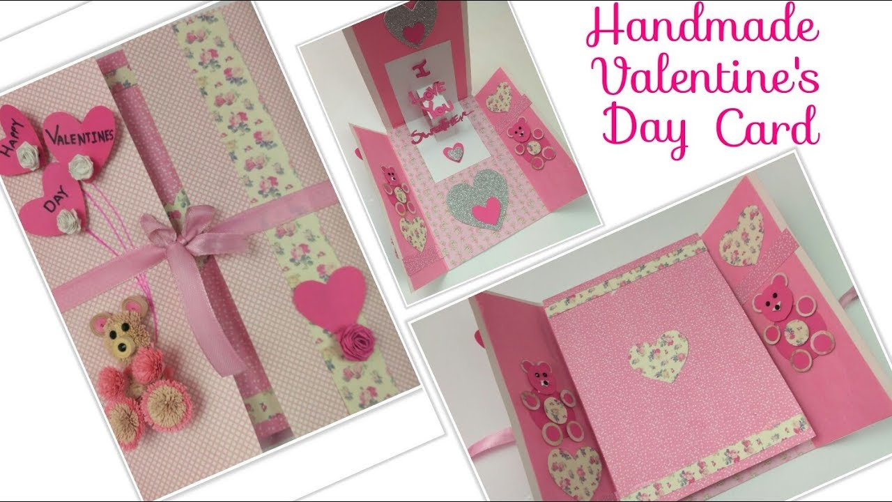 DIY Valentine Cards Handmade 3D Pop up Greeting Card for ...