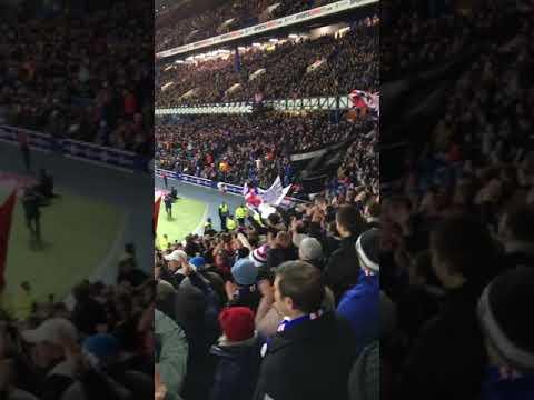 Rangers v Aberdeen derrys walls