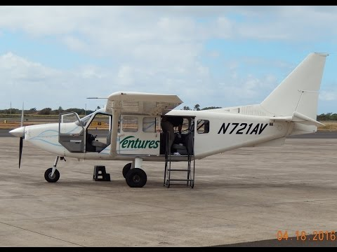 GoPro Gippsland GA8 Airvan Kauai, Hawaii Tour out of Lihue (LIH) Airport