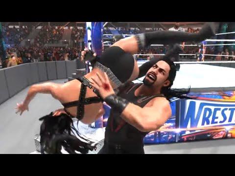 WWE 2k19: Roman Reigns Vs Iiconics Billie Kay, Intergender Match Ryona