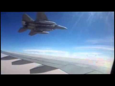 Saudi Arabia F-15 jet threatens Iranian rescuer Airbus preventing it's landing in Sana'a, Yemen