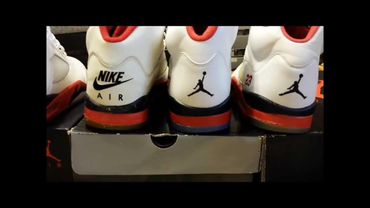 Air Jordan 5 Collection 2013  Fire Red V Comparison (OG-2013) - YouTube 66106dcf9