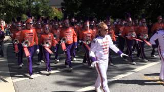 Clemson Tiger Band 2014 Parade to Stadium