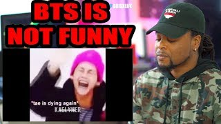 BTS is NOT funny 🧢| namjoon saw some stuff | Try Not To Laugh | Reaction!!!