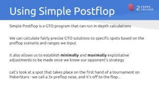 Matt TheGinger: Understanding GTO Solutions