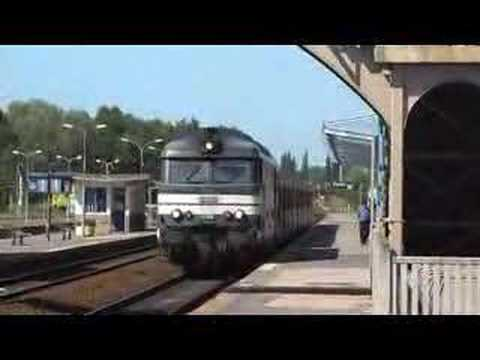 SNCF Diesel Hauled Departure from Abbeville to Paris