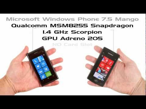 Compare Nokia Lumia 800 and Samsung Omnia W