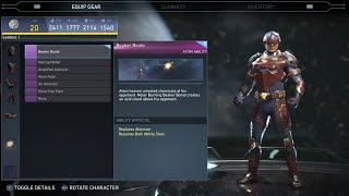 Injustice 2 - Atom All Unlockable Abilities