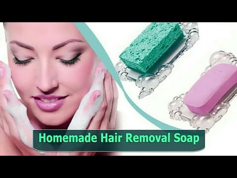 Homemade hair removal soap|facial and body hair removal soap| how can I  remove hairs at home easily - YouTube