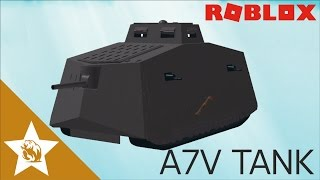 ROBLOX Speedbuild WW1 German A7V Tank