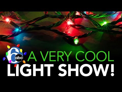 WHOA! How To Make A Light Display With 34,000 Lights | 6abc Discovery