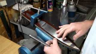 Custom Knife Making hand sanding with Nick Wheeler