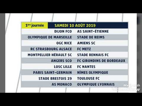 Calendrier Ligue 1 2019 2020.Calendrier Ligue 1 2019 2020 1 A 19 Journees