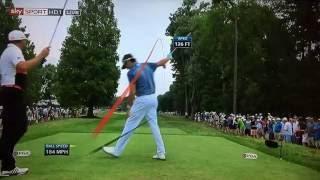 Golf TrackMan Tracer Compilation - PGA Championship 2016 Rd1.