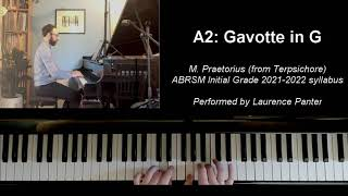 A:2 Gavotte in G (ABRSM Initial Grade piano 2021-2022)