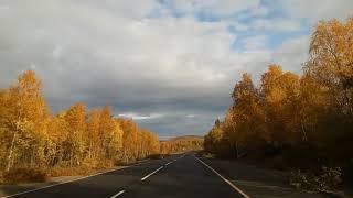Дорога Никель-Гольфстрим, осень, граница Норвегии