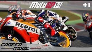 MotoGP 14 Gameplay Career Mode Walkthrough - Part 1 Moto 3 Debut!