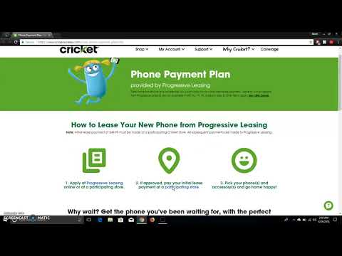 Cricket Wireless Phone Payment Plan