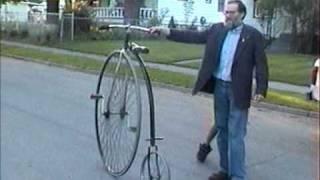 Michael McKay Riding A Vintage Bike