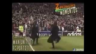 فرحة مورينيو المجنونة ضد مانشستر يونايتد مع بورتو 2004