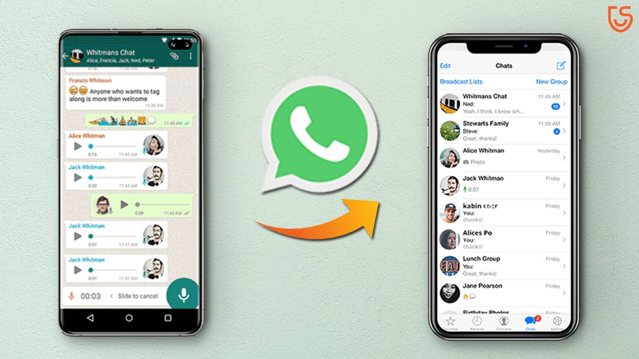 2 Free Ways to Transfer WhatsApp from Android to iPhone - YouTube