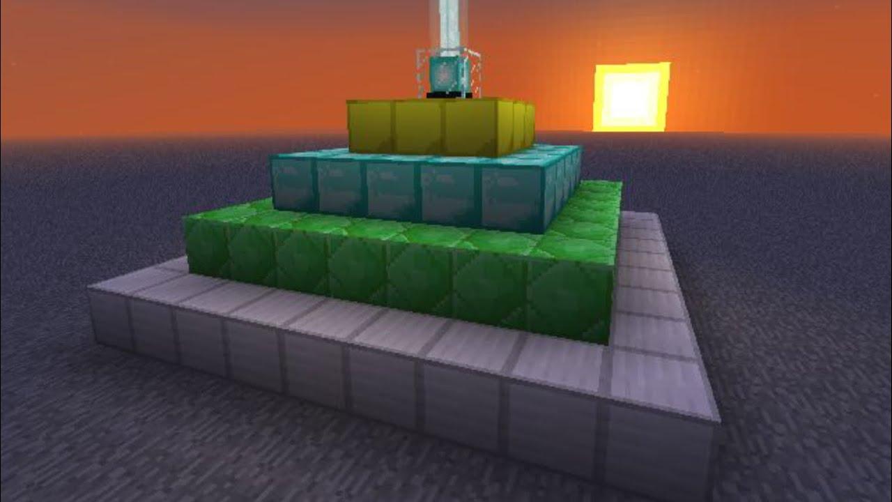 как сделать маяк в майнкрафте #11