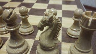 Шахматы. Легкая победа. Королевский гамбит. Спасибо за поздравления.