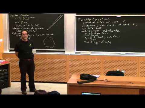 Lecture 22 11/04 Approximation Algorithms: Linear Programmin