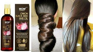 complete hair treatment लंबे और घने बालों के लिए WOW Onion Black Seed Hair Oil With Comb Applicator