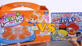Yummy Nummies vs Popin Cookin Diy Sushi Candy Battle!?