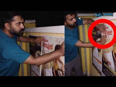 Heart Touching : Simbu puts emotional 'Kanneer Anjali' posters for his fan | STR