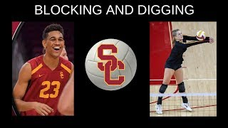 USC VOLLEYBALL SKILLS: Middle Blocker vs. Libero