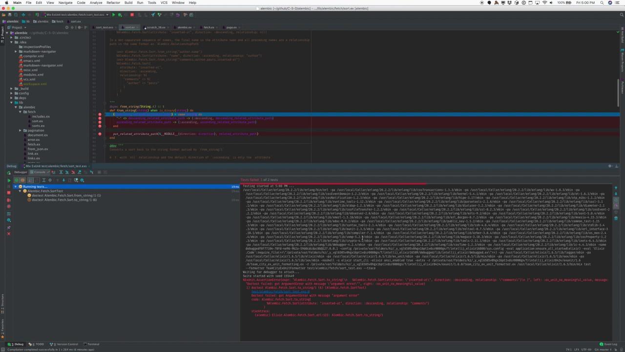 IEx and IEx debugging in IntelliJ Elixir 7 6 0-dev