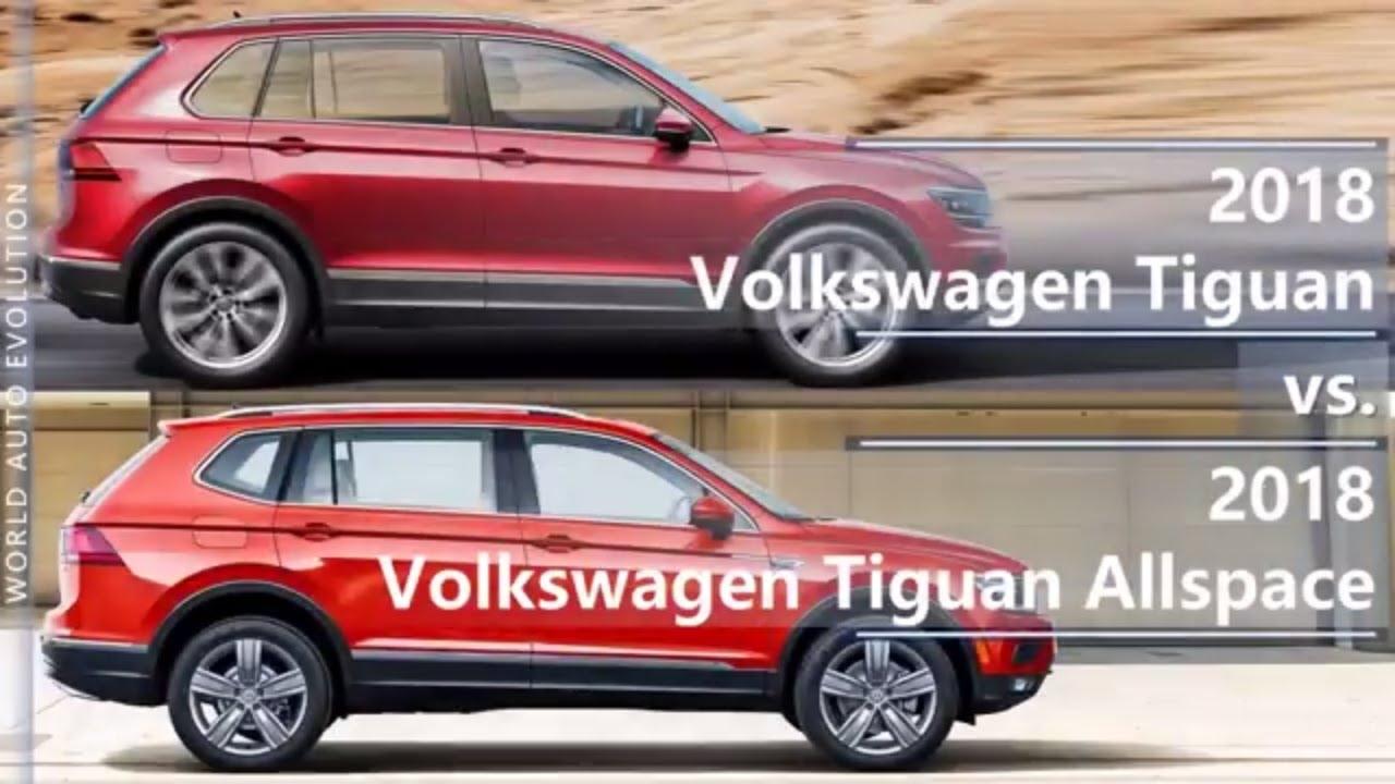 2018 volkswagen tiguan vs tiguan allspace technical. Black Bedroom Furniture Sets. Home Design Ideas