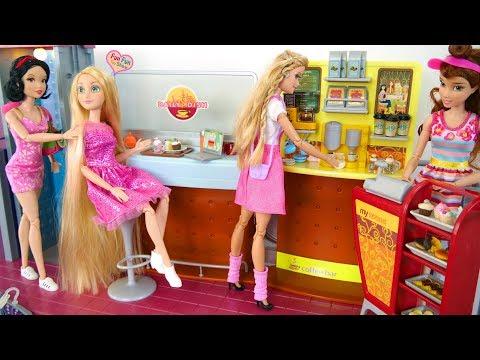 Barbie doll Coffee Shop Cafe Playset Boneka Barbie Kafe Boneca Barbie Café thumbnail