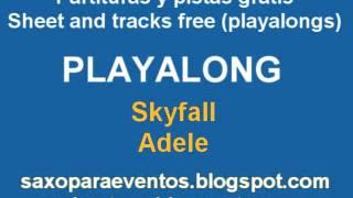 Skyfall - Adele - Playalong and music score