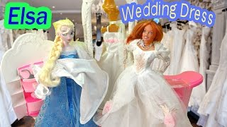Queen Elsa Frozen Disney Wedding Dress Shop Barbie Doll Boutique Series Love Spell Video Part 39