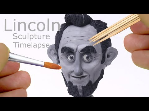Lincoln Sculpture Timelapse - Hand Sculpted, Bust