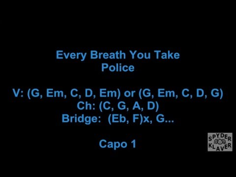 Every Breath You Take - The Police - Lyrics - Chords