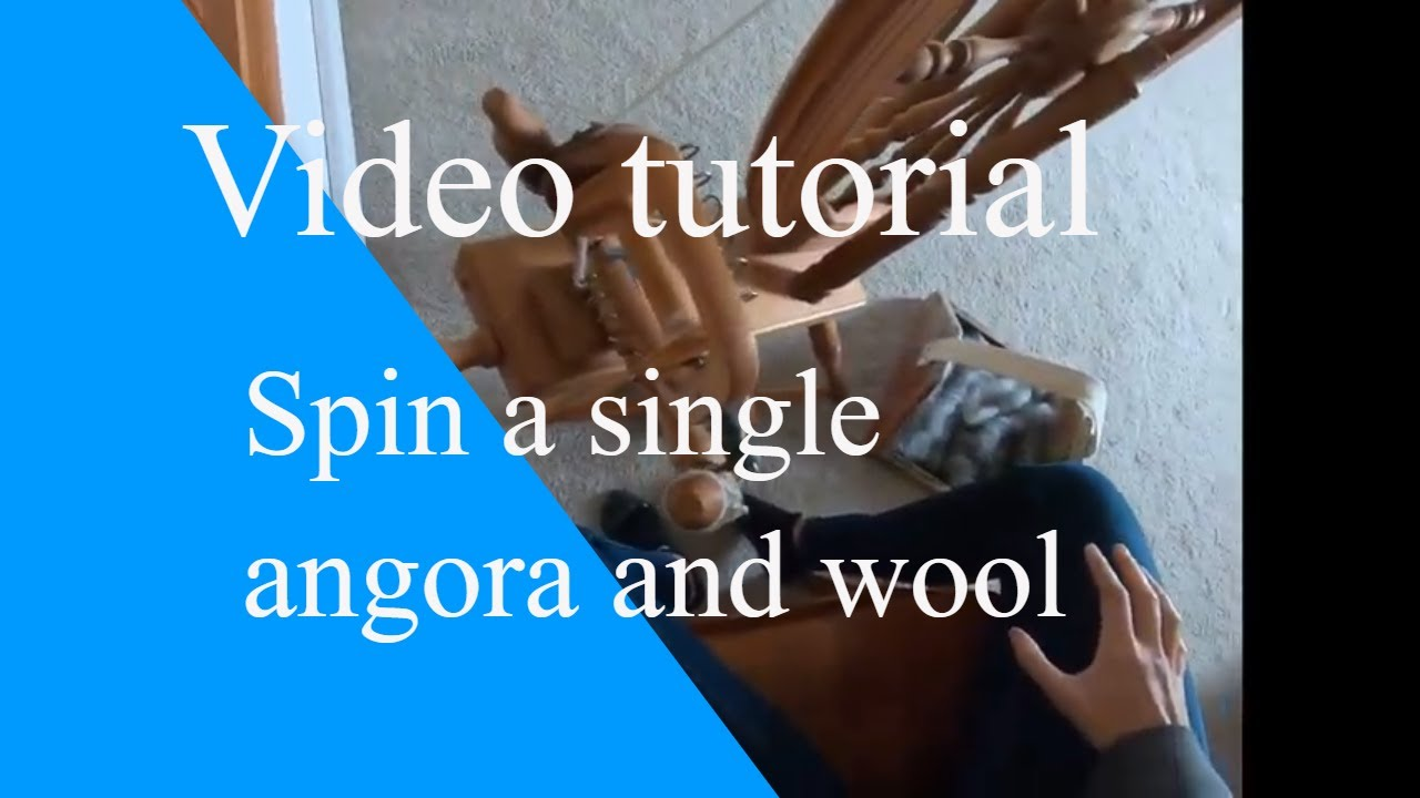 Video tutorial of how to spin an angora and wool single